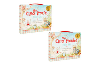 2x The Cleo Stories Kids/Child Book Bag w/ 2 Bed Time Story Hardcover Books Set