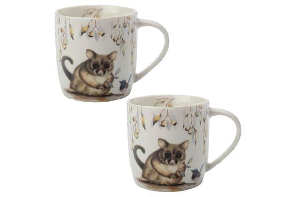 2PK Maxwell & Williams Sally Howell 340ml Mug Tea Coffee Tin GB Brushtail Possum