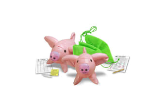 Pass The Pigs 50cm Giant Inflatable Pig Dice Game & Cards 6y+ Family/Kids/Adult