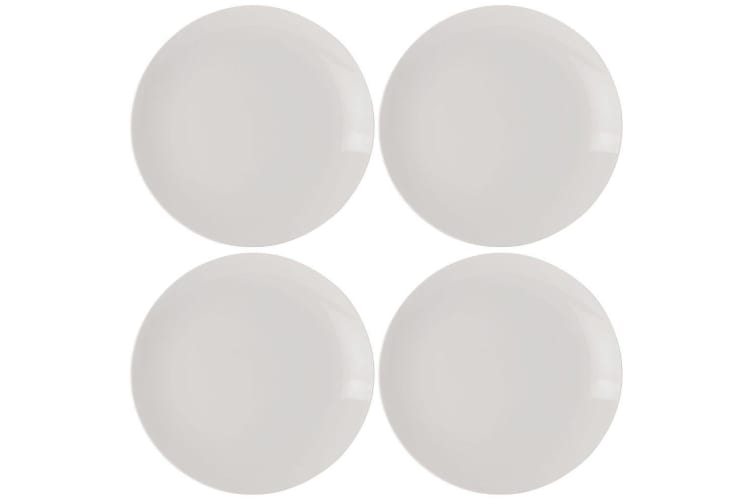 4pc Set Maxwell & Williams White Basics Coupe Round Side Plate 19cm Tableware