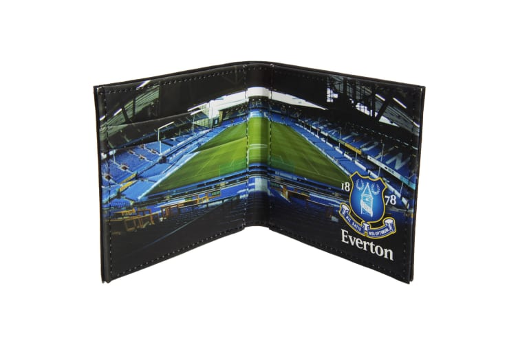Everton FC Mens Official Football Stadium Leather Wallet (Black) (One Size)