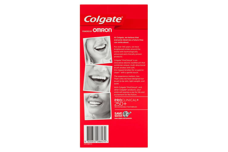 Colgate Pro Clinical 250+ Electric Rechargeable Toothbrush w/Soft Bristles Black