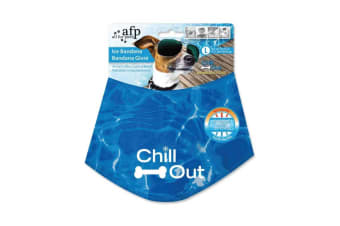 All For Paws Ice Dog L Cooling Bandana Chill Out Pet Neck Cool Collar Scarf Cold