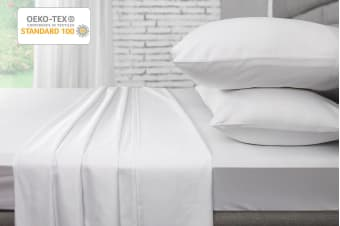 Ovela 1000TC 100% Egyptian Cotton Bed Sheet Set (Single, White)