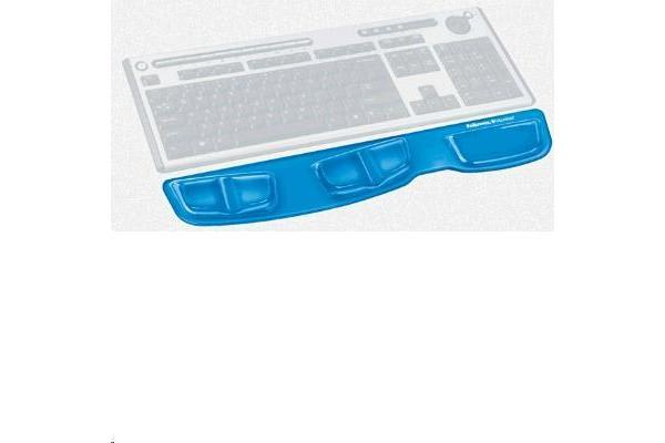 FELLOWES KEYBOARD CLEAR  BLUE PALM SUPPORT GEL