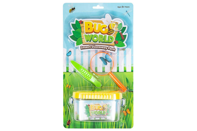 7pc Bugs World Insect Discovery & Butterfly Net w/ Container/Magnifier Toys Kit