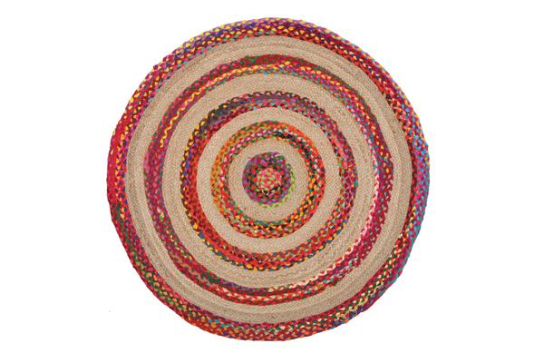 April Target Cotton and Jute Rug Multi 120x120cm