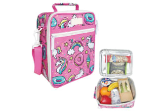 Sachi Thermal Insulated Picnic Lunch Tote Cooler Carry Case Pouch Bag Unicorn