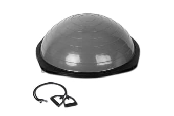 BOSU Trainer Ball with Resistance Bands (Grey)