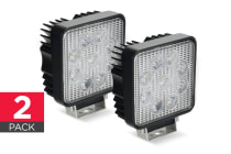 2 Pack Certa 27W Epistar Square LED Work Light