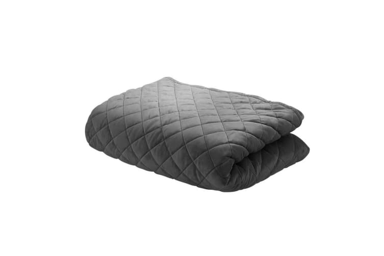 Giselle Bedding Microfibre Weighted Blanket Zipper Cover Adult Size 152x203cm Grey