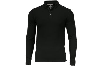 Nimbus Mens Carlington Deluxe Long Sleeve Polo Shirt (Black)