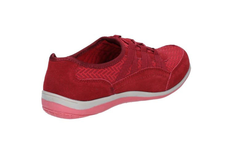 Fleet & Foster Womens/Ladies Dahlia Suede Leather Slip On Shoes (Red) (5 UK)