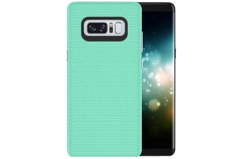 For Samsung Galaxy Note 8 Case Chrome Plate Armour Durable Shielding Cover Green