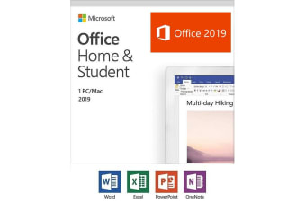 Microsoft Office Home and Student 2019 Medialess Retail Box - Word Excel PowerPoint - 79G-05097