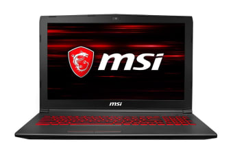 "MSI 15.6"" GV62 8RC FHD Core i5-8300H GTX1050 2GB 1TB HDD 128GB SSD 8GB RAM Gaming Notebook (8RC-059AU)"