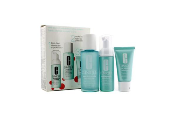 Clinique Anti-Blemish Solutions 3-Step System: Cleansing Foam + Clarifying Lotion + Clearing Treatment (3pcs)