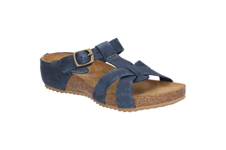 Riva Womens/Ladies Becky Mule T Strap Buckle Sandal (Navy) (7 UK)