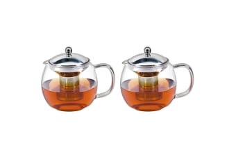 2PK Avanti 1.5L Ceylon Glass Teapot w  Removable Stainless Steel Infuser Tea Pot