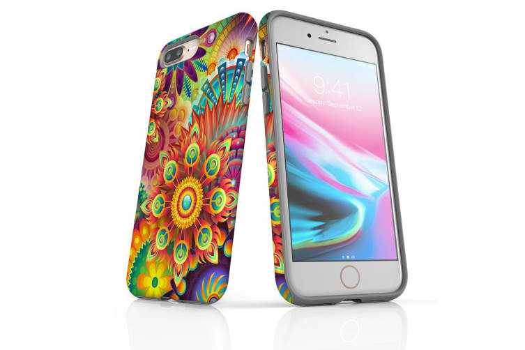 For iPhone 7 Plus Shielding Back Case  Psychedelic Flower
