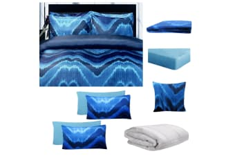 8 Pce Bed in a Bag Bed Pack Set Midnight Blue by Big Sleep