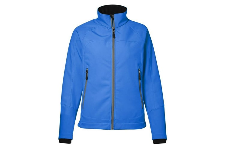 ID Womens/Ladies Functional Full Zip Regular Fitted Soft Shell Jacket (Blue) (S)