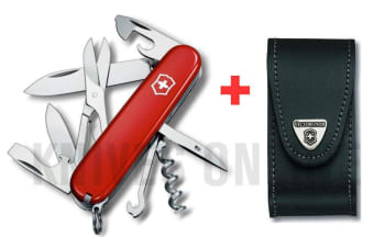 SWISS ARMY KNIFE SWISS BUDDY VICTORINOX  + LEATHER VICTORINOX BELT POUCH