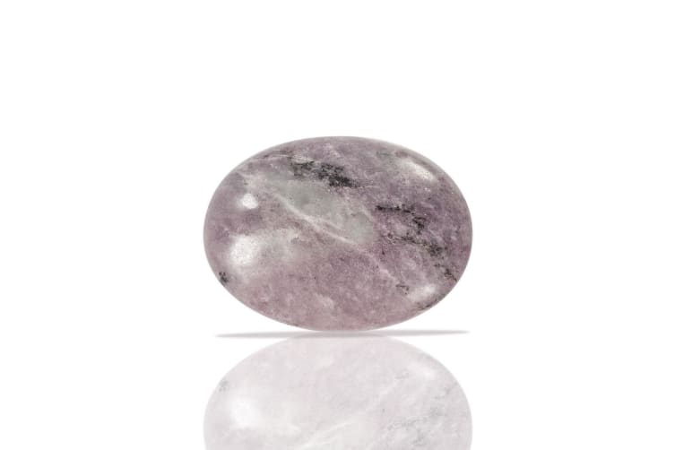 Large Lepidolite Chakra Healing PalmStone Polished Soapstone Weight 100 grams