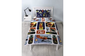 Incredibles 2 Childrens/Kids Retro Reversible Single Rotary Duvet Set (Multicoloured) (One Size)