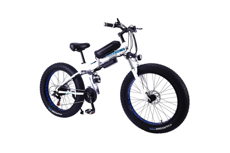 """TAOCI 350W 36V LH Snow Motorized Bicycle Beach Electric Bike eBike 26"""" with Battery White"""
