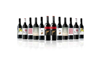 Mixed Aussie Red Dozen feat. Yellow Tail Cabernet Sauvignon (12 Bottles)