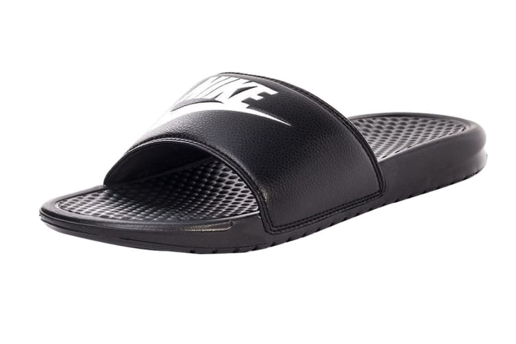"Nike Benassi ""Just Do It"" Men's Sandal (Black/White, Size 12 US)"