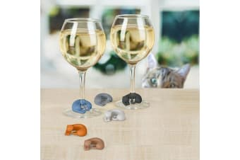 Wine Lives Cat Wine Markers