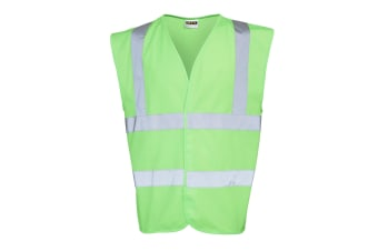 RTY Enhanced Vis Unisex Hi / Enhanced Visibility Safetywear Vest Top (Bright Green)