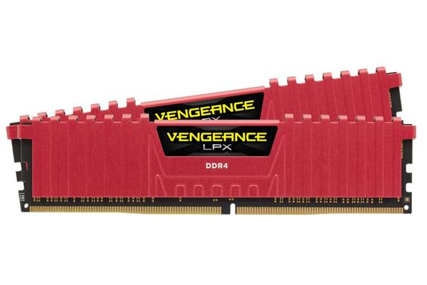 Corsair 16GB (2x8GB) DDR4 2400MHz C16 Vengeance LPX Red