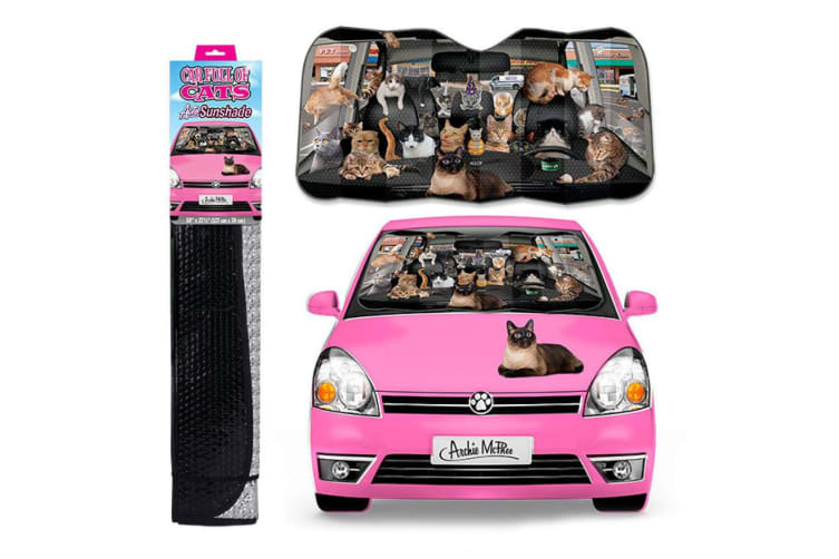 Archie McPhee - Car Full Of Cats Auto Shade