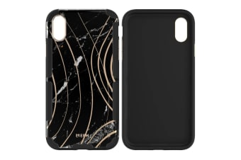 EFM Cayman InStyle D3O Case Armour Mobile Cover for Apple iPhone X/XS Marble BLK