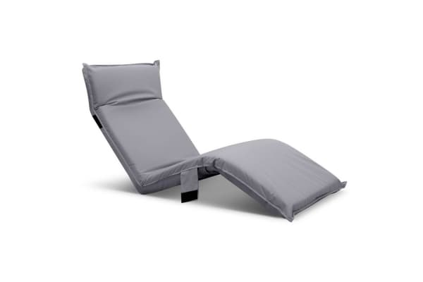 Adjustable Beach Sun Pool Lounger (Grey)