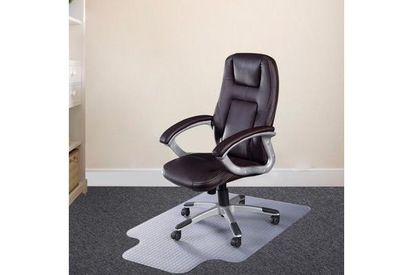 2Pcs New Office Carpet Chair Mat 1200 x 900mm Vinyl Protector