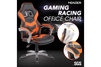 High Back Gaming Racing Chair Executive Computer Office Sport Race Seat - Orange & Black