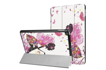 For iPad 2018 2017 9.7in Case Butterfly Fairy Protective 3-fold Leather Cover