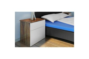 vidaXL Nightstand 2 pcs with One-Drawer Brown and White