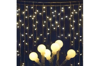 Jingle Jollys 300 LED Curtain Lights (Warm White)