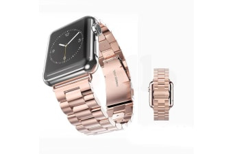 Replacement Stainless Steel Strap Band Clasp for Apple Watch Sport Rose gold  -  38mm