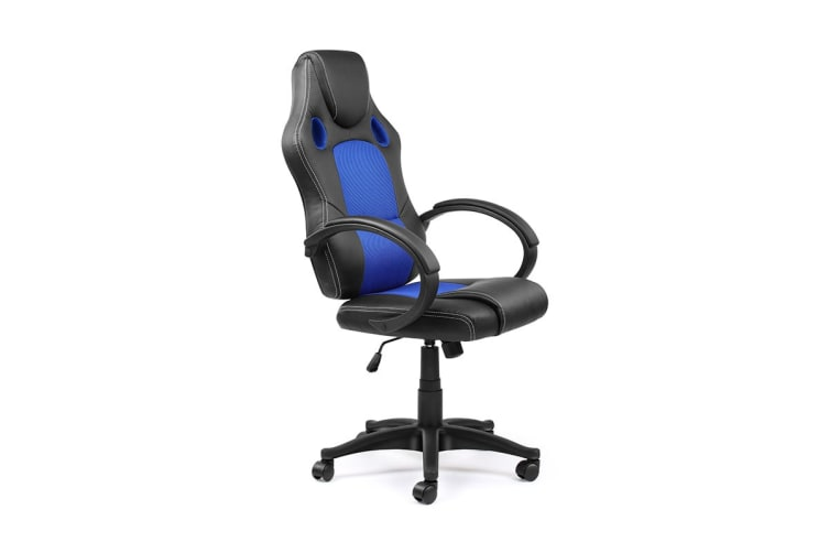 Ergolux RX7 Gaming Office Chair (Blue, Racing Series)