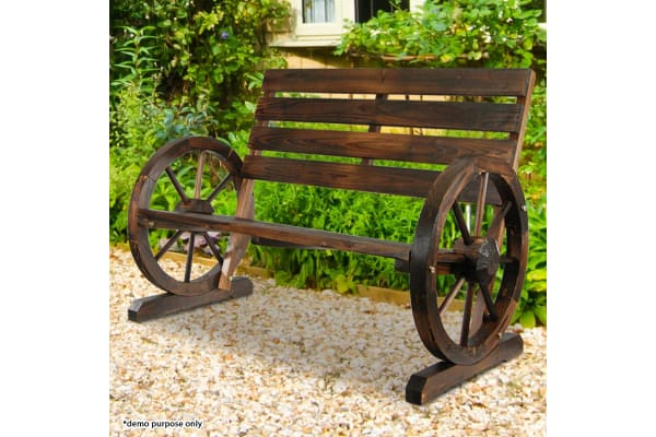 Backyard Garden Decorative Craft Wooden Bench