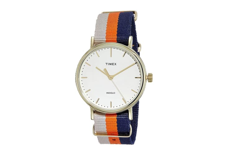 Timex Unisex Weekender Fairfield Watch (White/Red/Blue)