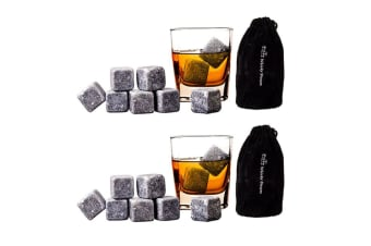 18pc Bartender Reusable Bar Whisky Cube Rocks Stones Cooler Drink Chiller Set