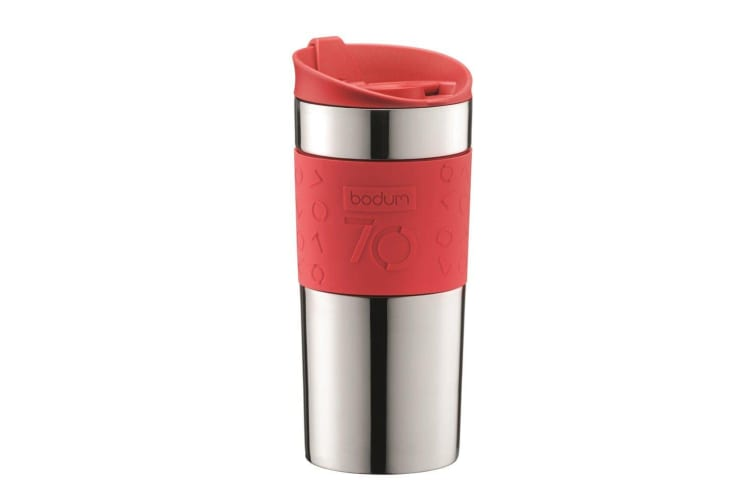 Bodum Travel Vacuum Mug 350ml Red Ribbon