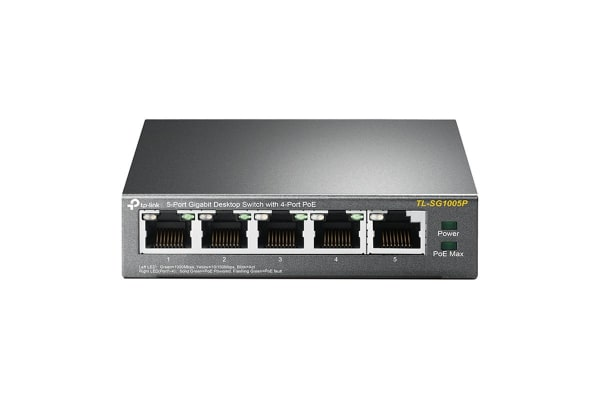 TP-Link TL-SG1005P 5-Port Gigabit Desktop Switch With 4-Port PoE (TL-SG1005P)